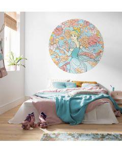 Assepoester Zelfklevende Behangcirkel ⌀125cm