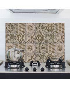 Keukenwand Sticker Tegels beige 47x65cm