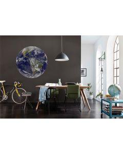 Earth Zelfklevende Behangcirkel ⌀125