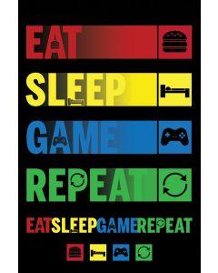 Eat Sleep Game Repeat Poster 61x91.5cm