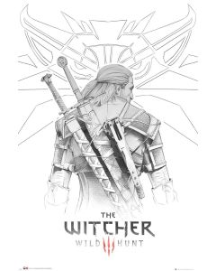 The Witcher Geralt Sketch 61x91.5cm