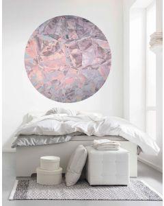 Glossy Crystals Zelfklevende Behangcirkel ⌀125