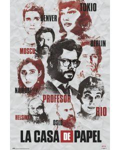 La Casa De Papel Characters Poster 61x91.5cm