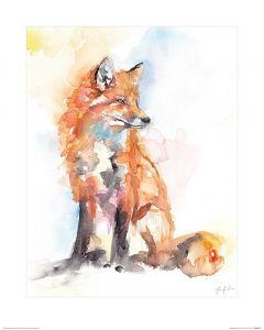 Handsome Fox Art Print Jennifer Rose 40x50cm
