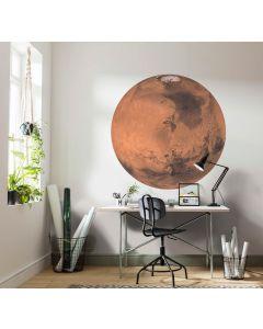 Mars Zelfklevende Behangcirkel ⌀125