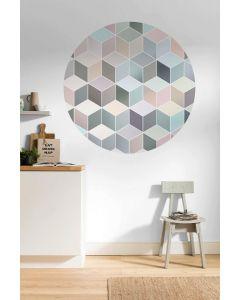 Pastel Deluxe Zelfklevende Behangcirkel ⌀125