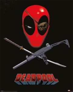 Deadpool Eye Patch Poster 40x50cm