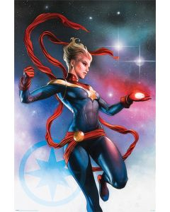 Captain Marvel Galaxy Poster 61x91.5cm