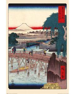 Hiroshige Ichikoku-brug in de oostelijke hoofdstad Poster 61x91.5cm