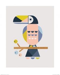 Toekan Art Print Little Design Haus 40x50cm