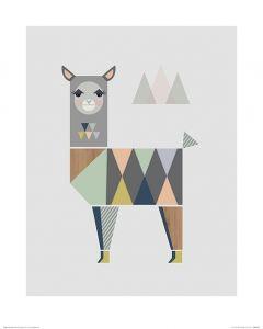Lama Art Print Little Design Haus 40x50cm