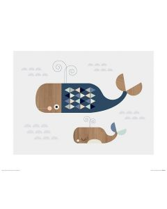 Walvissen Art Print Little Design Haus 40x50cm