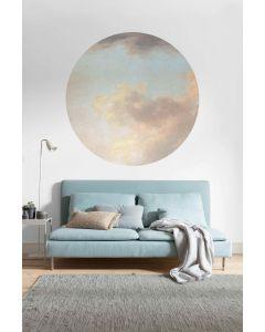 Relic Clouds Zelfklevende Behangcirkel ⌀125