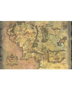 The Lord of the Rings Middle Earth Map Poster 91.5x61cm