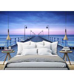 Pier Aan Het Water 8-delig Vlies Fotobehang 366x254cm