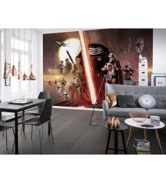 Star Wars EP7 Collage 8-delig Fotobehang 368x254cm
