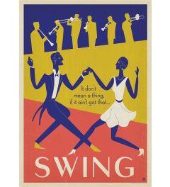Swing Dansen Kunstdruk 42x59.4cm