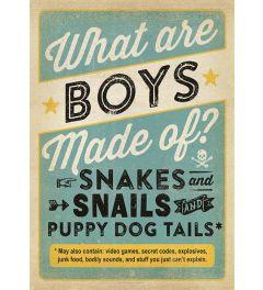 What Are Boys Made Of? Kunstdruk 42x59.4cm
