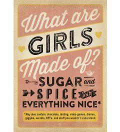 What Are Girls Made Of? Kunstdruk 42x59.4cm