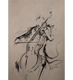 Cellist Kunstdruk 42x59.7cm