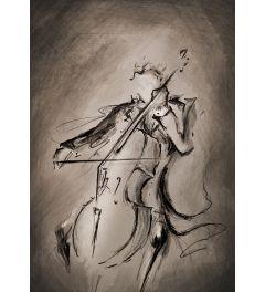 Cellist Donker Kunstdruk 42x59.7cm