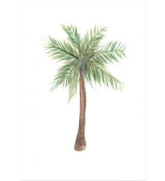 Watercolor Palm Tree