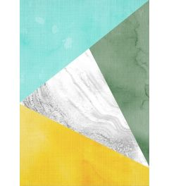Geometric Mint Yellow