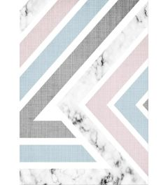 Geometric Pink Blue