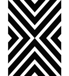 Geometric White Black