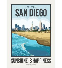 Travel Poster San Diego