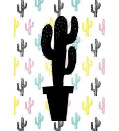 Cactus on Cactus Print