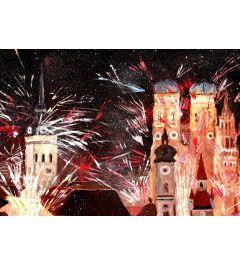 Munchen Silvester Feuerwerk - M Bleichner