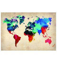 Wereldkaart - Multi Color