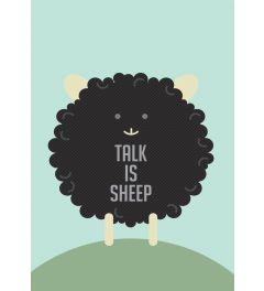 Talk is Sheep - Zwart