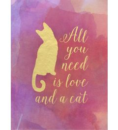 All you need is love and a cat - goud