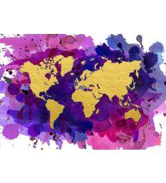 Wereldkaart - Goud