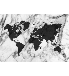 Wereldkaart - Zwart