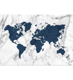 Wereldkaart - Blauw
