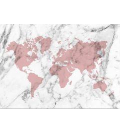 Wereldkaart - Rood