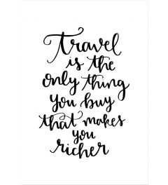 Travel Makes You Richer Hand
