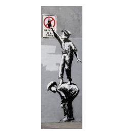 Banksy Poster Grafitti Is A Crime 53x158cm