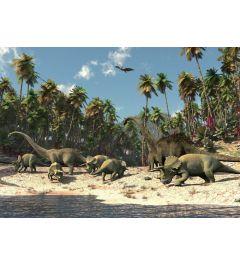 Dinosauriers 1-delig Vlies Fotobehang 152x104cm