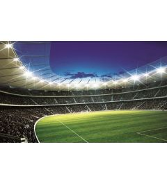 Voetbal Stadion 2 1-delig Vlies Fotobehang 152x104cm