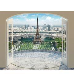 Parijs Eiffeltoren 12-delig Fotobehang 305x244cm