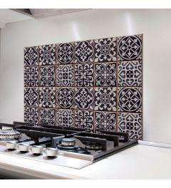 Azulejos Keukenwand Sticker Zwart