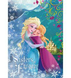 Frozen Sisters Forever 1-delig Vlies Fotobehang 104x152cm