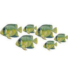 Geel Blauwe vissen (set van 6)