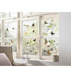 Vlinders Raamsticker Set