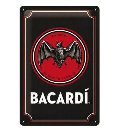 Bacardi Logo Black Wandplaat 20x30cm