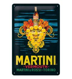 Martini Vermouth Grapes Wandplaat 20x30cm
